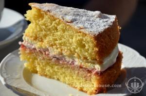 Victoria Sponge Cake at Victoria Park Village, London, United Kingdom