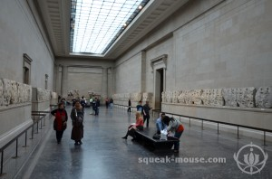 In the Parthenon Exhibit in the British Museum, London, United Kingdom
