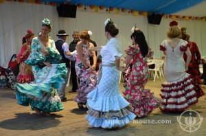 Dancing at the Feria de Abril, Barcelona, Spain