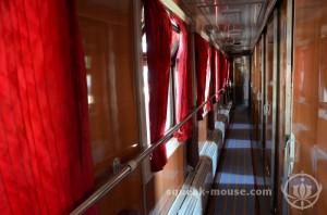 On the train, Sofia, Bulgaria