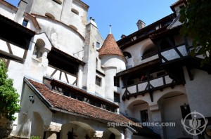 Looking up at Bran Castle, Bran, Romania